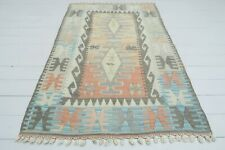 "Vintage Turkish Small Kilim Doormat Bathmat Decor Wool Rug Carpet Tapis 40""X62"""