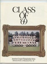 1969 ALCS Baltimore Orioles Official Program - VGEX