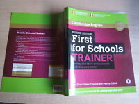 LIBRO=First for schools trainer. Practice tests.