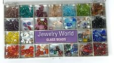 Glass Bead collection lot over 300 beads craft jewelry making