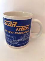 Star Trek The Next Generation Enterprise D coffee Mug 1994 Pfaltzgraff
