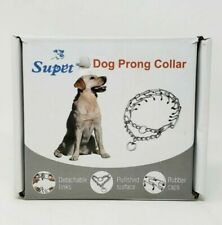 New listing Supet Dog Prong Collar, Adjustable Dog Pinch Training Collar with Quick Release