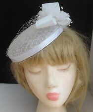 Gorgeous White Sinamay Occasion,  Fascinator, Cocktail Hat, Church Hat