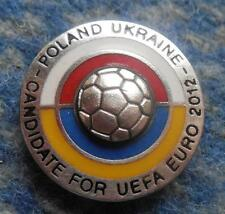 EURO EUROPEAN CHAMPIONSHIP POLAND UKRAINE 2012 FOOTBALL SOCCER CANDIDATE PIN