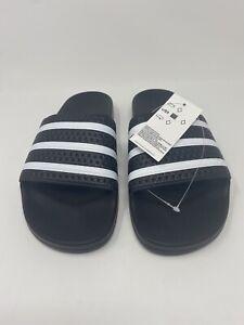 adidas Originals Men's Adilette Slide Sandals, Core Black/White/Core Black