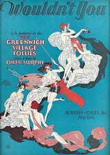 "Owen Murphy ""GREENWICH VILLAGE FOLLIES"" Gladys Glad / Sam Hearn 1926 Sheet Music"