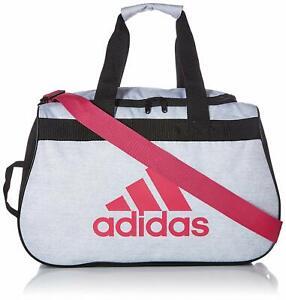 Adidas Diablo White Jersey/Real Magenta Pink/Black Duffel Bag