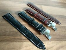 LEATHER DEPLOYMENT WATCH STRAP FOR CITIZEN ECO DRIVE 18/19/20/21/22/24 mm