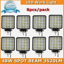 Hot sale! 48W LED Work Light For Truck Offroad Tractor Motocycel Spotlights 8pcs
