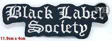 Black Label Society Heavy Metal Iron Sew on Embroidered Patch
