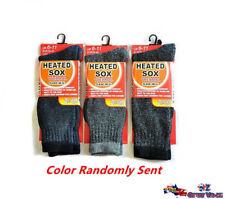 1pair Men Heated Heat Thermal Socks Thick Size 6-11 Winter Warm Boot Work Sock