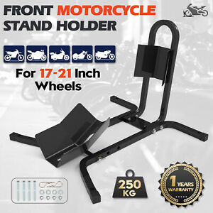"""Motorcycle Motorbike Road 17""""-21"""" New Front Wheel Support Chock Transport Stand"""