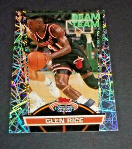 1992-93 Topps Stadium Club Beam Team Glen Rice Card #8 Miami Heat