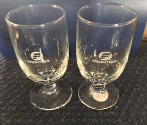 Frontier Airline Cordials Glasses