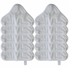 10 Pack Microfiber Replacement Pads Compatible with H2O H20 X5 Steam Mop