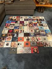 45 Rpm Record Lot Of 85 Pop/Rock/Rap 80's 90's Run Dmc, Fat Boys,wham,Duran,jets