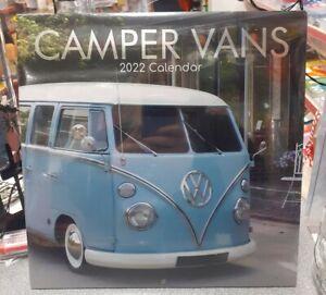 Camper Van's 2022 Square Wall Calendar New Free Postage