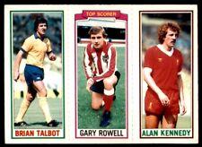 Topps Football 1981 Blue 5. Brian Talbot / 160. Gary Rowell / 48. Kennedy