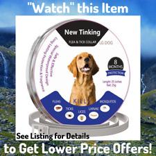 Natural Flea Tick Dog Collar Adjustable Safe Easy Waterproof 8 Months Protection