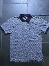 Paul Smith PS Patterned Polo with Navy contrast collar  - L -  p2p 21""