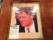1992 PRESIDENTIAL CAMPAIGN SIGNED AUTOGRAPH BILL CLINTON ONTARIO CA. RALLY 1992