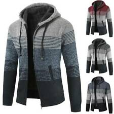 Mens Winter Hoodie Sherpa Fleece lined Zip Up Hooded Warm Coat Jacket Sweatshirt