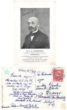 C1996) ZAMENHOF IDEATORE DELL'ESPERANTO CONGRESSO A PRAGA 1909. VG NEL 1909.