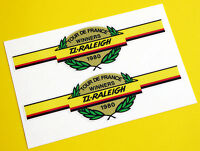 Raleigh Vintage style 'Tour De France Winners 1980' Cycle Bike Stickers decals