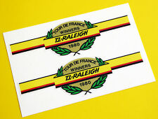 Raleigh Vintage style 'Tour De France Winners 1980' Cycle Bicicleta Stickers