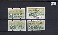 BRD ATM Mi-Nr. 1.1 hu RS 1 zentrisch gestempelt - Restwertsatz