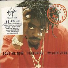BEENIE MAN ft WYCLEF JEAN - LOVE ME NOW - 2 TRACK CD SINGLE