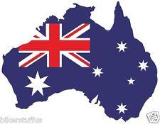 AUSTRALIA SILHOUETTE BUMPER STICKER MAP FLAG