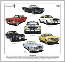 CLASSIC MUSTANG - Fine Art Print - Shelby GT350 Convertible Coupé GT Fastback ++