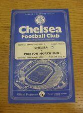 21/03/1959 Chelsea V Preston North End (arrugada, doblar, puntuación detalladas en portada, RU