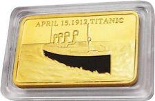 R.M.S. TITANIC SCHIFF - 1912 - GOLDBARREN / GOLDMÜNZE / MEDAILLE - RAR