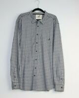 Rod And Gun Men's Italian Fabric Long Sleeve Button Up Grey Check Shirt Size XL