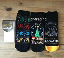 Ladies HARRY POTTER HOGWARTS CHRISTMAS Shoe Liner Socks 3 pack UK 4-8 EU 37-42