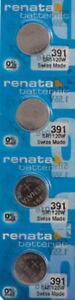 4 x Renata 391 Watch Batteries, SR1120W Battery   Shipped from Canada