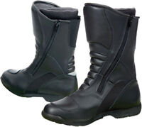 Prexport Livigno Black Leather Touring Motorcycle Boots New RRP £139.99!!!