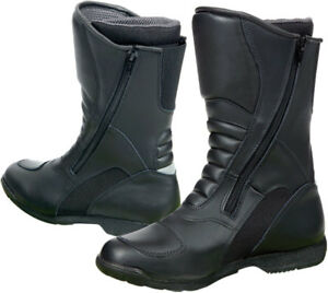 Prexport Livigno Black Leather Touring Motorcycle Boots New