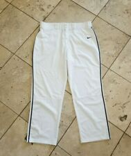 Men's Nike Dri Fit Solid White Baseball Pants Size 3XL