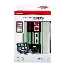 Official PowerA Nintendo 3ds Game Vault Case Retro Nes Controller Hard Cover
