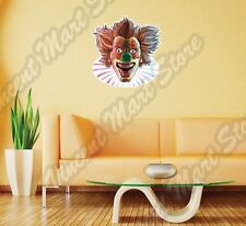 "Mad Clown Killer Face Evil Murderer Smiling Wall Sticker Room Interior Decor 22"""