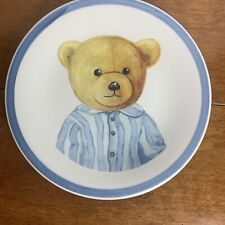 "Bear Plate 8"" Ceramica Due Torri Made In Italy"