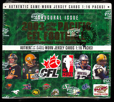 2003 Pacific Cfl Football Trading Cards 30 Pack Unopened Box Game Jersey + More