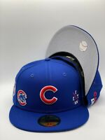 Chicago Cubs New Era MLB Multi Hit C1 Collection 59Fifty Fitted Blue NWT
