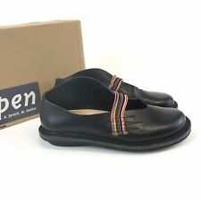 Trippen Fun Black Leather Slip On Mary Jane Sandals Shoes Size 38 UK5 US7