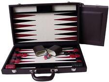 "Dal Rossi Chocolate Mocha Backgammon 18"" PU Leather"