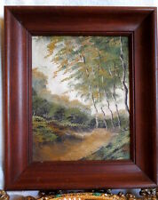Vintage Oil Painting in the wooden frame