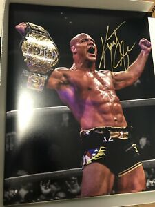 Kurt Angle Signed 11x14 Photo Edit Authentic WWE WWF Autograph HOF